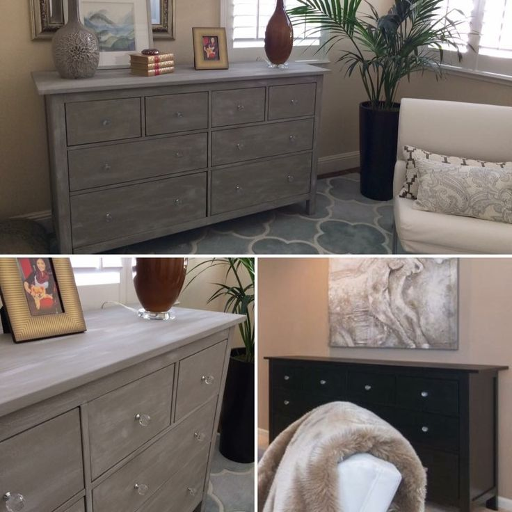 Ann Sloan chalk paint (Paris Grey and French Linen). Already had the paint, so $0 and 1 hour.