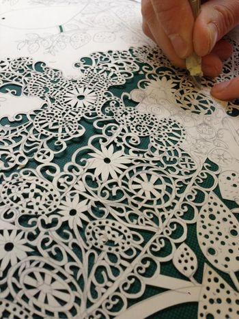 Rob Ryan....papercut artist...Each one carefully work is, creating a beautiful work.