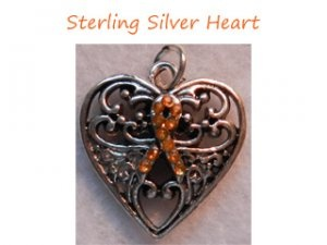 Sterling Silver Heart-CRPS Awareness