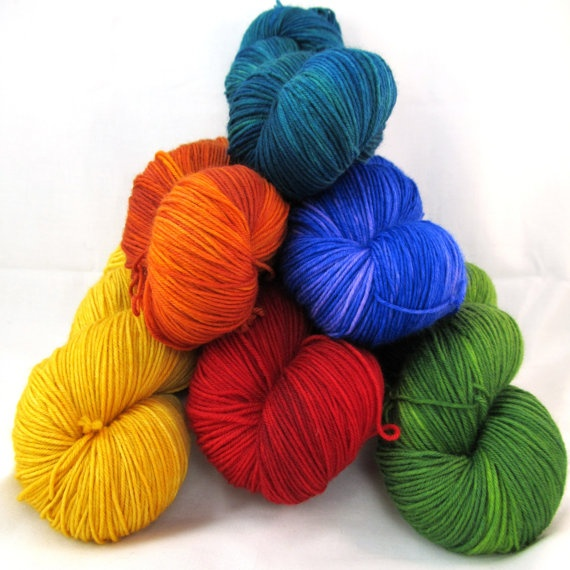 Choose your color  Hand Dyed Sock Yarn Merilon by BlackTrillium, $21.50