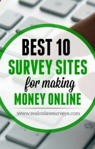 Need an easy way to make money taking online surveys?Best 10 Paid Survey Sites for Making Money Online - www.realonlinesur...