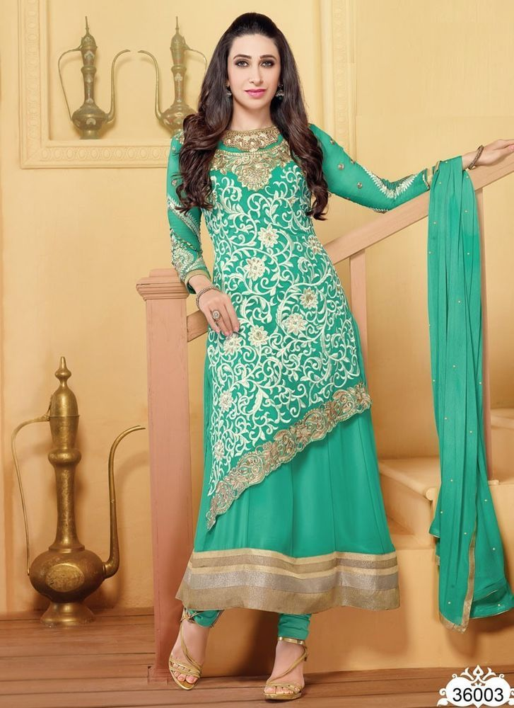 Indian Ethic Beatiful Traditional Bollywood Designer replica long anarkali dress