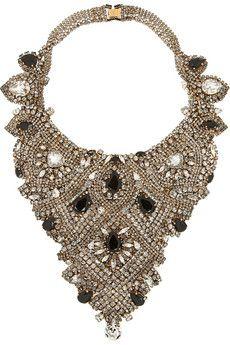 Erickson Beamon + Aerin gold-plated Swarovski crystal necklace   NET-A-PORTER