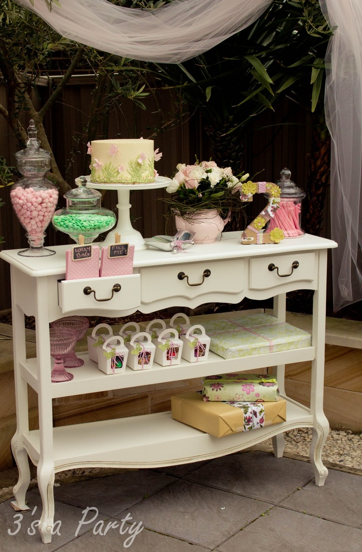Kids tea party table - 3 S A Party Enchanted Butterfly Garden