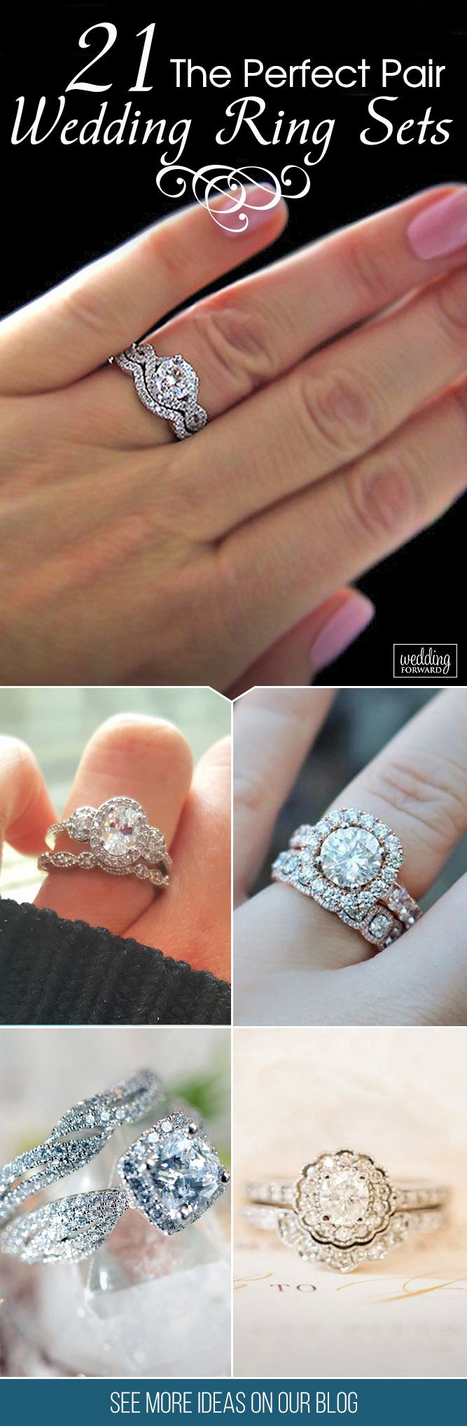 21 Wedding Ring Sets That Make The Perfect Pair ❤ Wedding ring sets become more and more popular among couples. They are not only create the perfect combination of engagement ring and wedding band, but also they are solves the problem of choice. See more: http://www.weddingforward.com/wedding-ring-sets/ #wedding #engagement #ring #sets