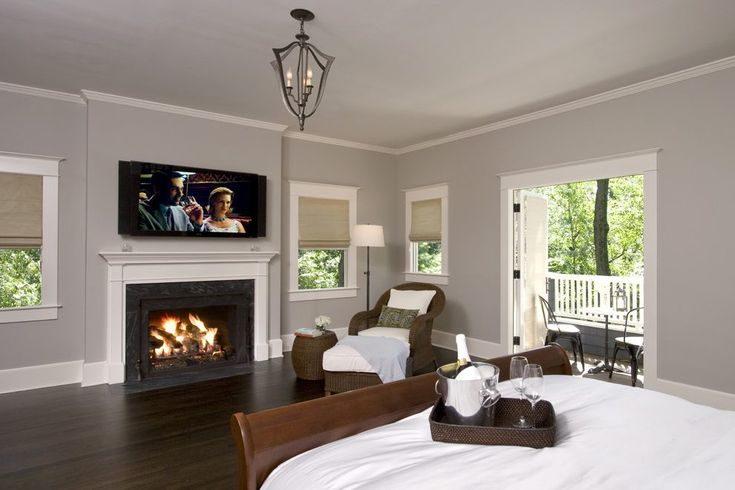 Balboa Mist Benjamin Moore Bedroom Traditional With Wall