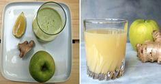 Bevi+ogni+mattina+questo+succo+di+limone,+zenzero+e+mela+per+disintossicare+il+colon+dalle+tossine