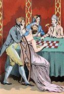 1800   A Gambling Hell in the Palais-Royal. Pleasure-seekers in neighborhood of…