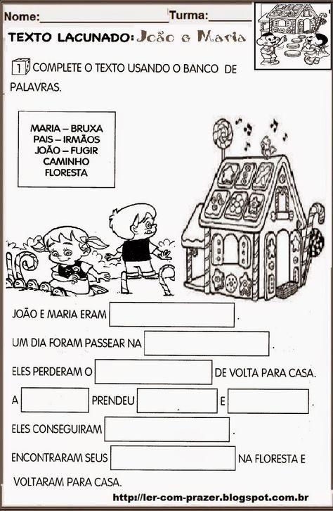 Ler com prazer: João e Maria, um Conto de Fadas.