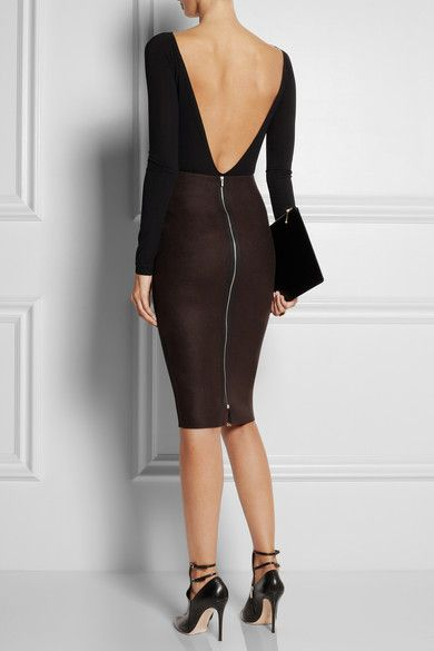 Kiki de Montparnasse Backless stretch-jersey bodysuit
