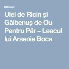 Ulei de Ricin și Gălbenuș de Ou Pentru Păr – Leacul lui Arsenie Boca