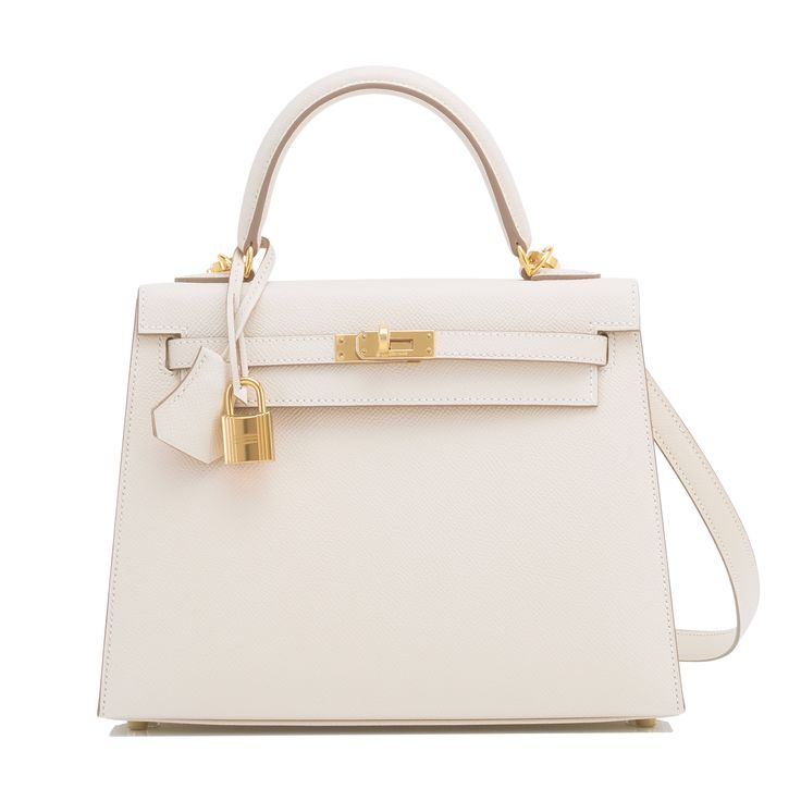 #Hermes #Kelly #Bag Craie Epsom Gold Hardware