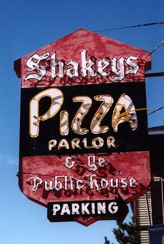 The original Shakey's Pizza location in Sacramento.  Closed in 1996 after a fire.  My uncle used to manage the one in Ventura.  I miss Shakeys.