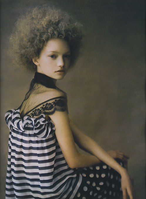 Gemma Ward by Paolo Roversi for Vogue Italy, March 2004