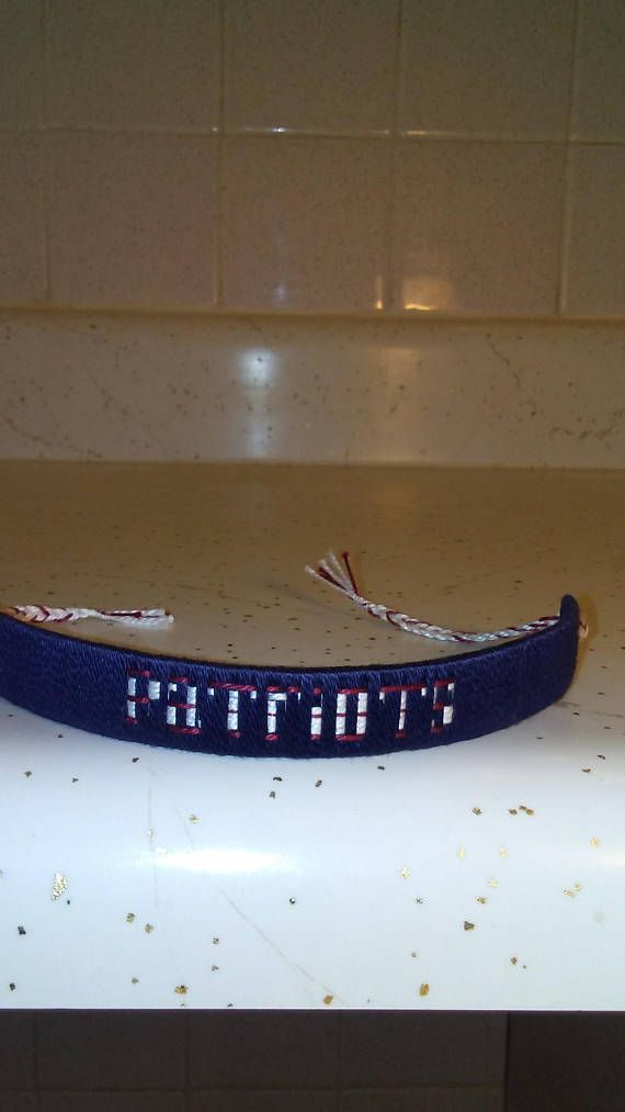 PATRIOT FOOTBALL BRACELET handmade for men/woman and children best gift you could ever offer a patriot fans