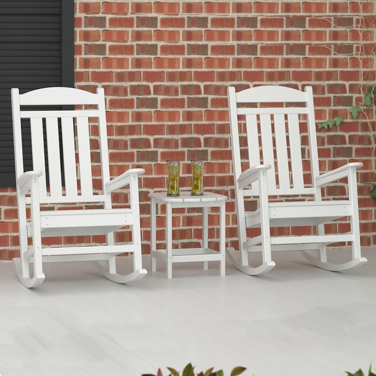 Maintenance Free! Weather resistant - will not promote bacterial growth or mildew Available in 13 POLYWOOD colors Will not crack, split, rot or splinter UV Stabilized to prevent fading 90% recycled POLYWOOD HDPE material