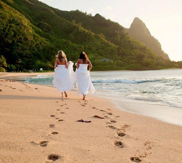 Lesbian+Wedding | lesbian beach wedding