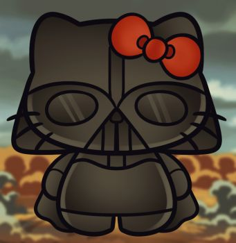 how to draw darth vader hello kitty