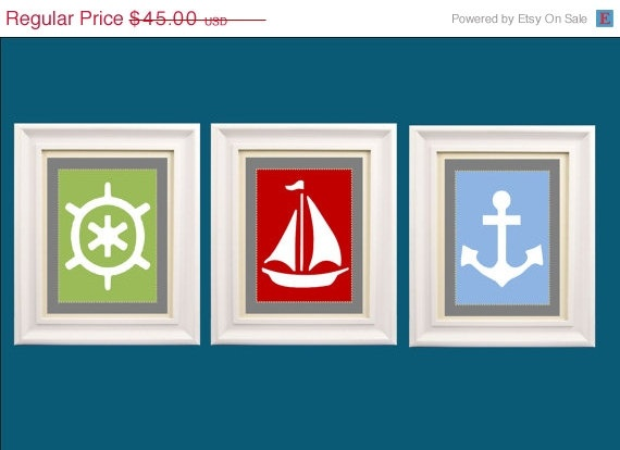 wall art.: Toddlers Rooms, Art Sets, Nautical Nursery, Nursery Wall Art, Baby Boys, 8X10 Prints, Nurseries Wall Art, Nautical Nurseries, Three 8X10