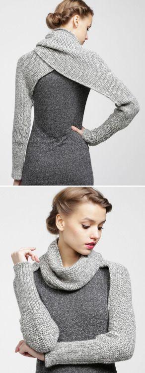 Knitted shoulder wrap