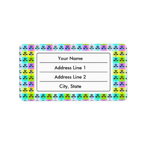 Fleur-de-lys seamless pattern personalized address labels