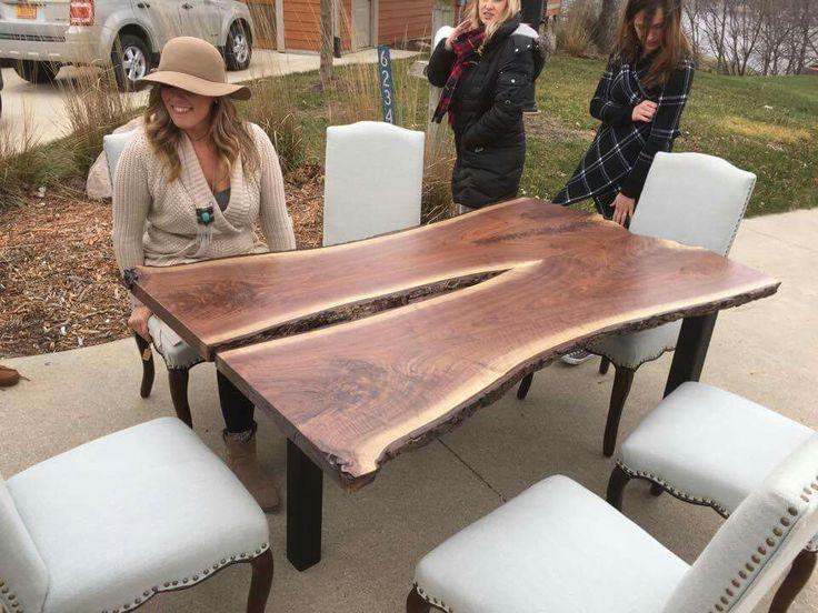 21 best Wood Slab Dining Tables images on Pinterest Wood slab