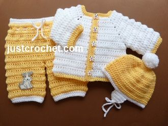 Free baby crochet pattern http://www.justcrochet.com/jacket-pants-helmet-usa.html #justcrochet