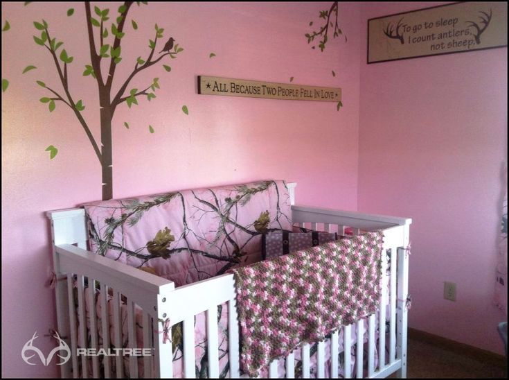 Realtree Pink Camo Nursery, cute for your little Miss Hunter-to-be!