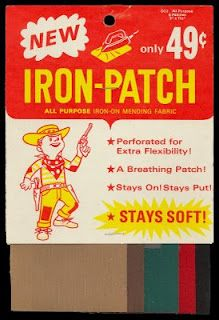 Stiff, Iron-On Patches for the holes in your jeans' knees.  They NEVER stayed in place, and would start to peel off after just a week or two.