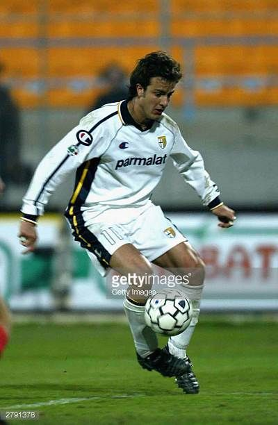 Alberto Gilardino of Parma during the Serie A 12th round match between Lecce and Parma held at Via del Mare stadium on December 7 2003 in Leece Italy
