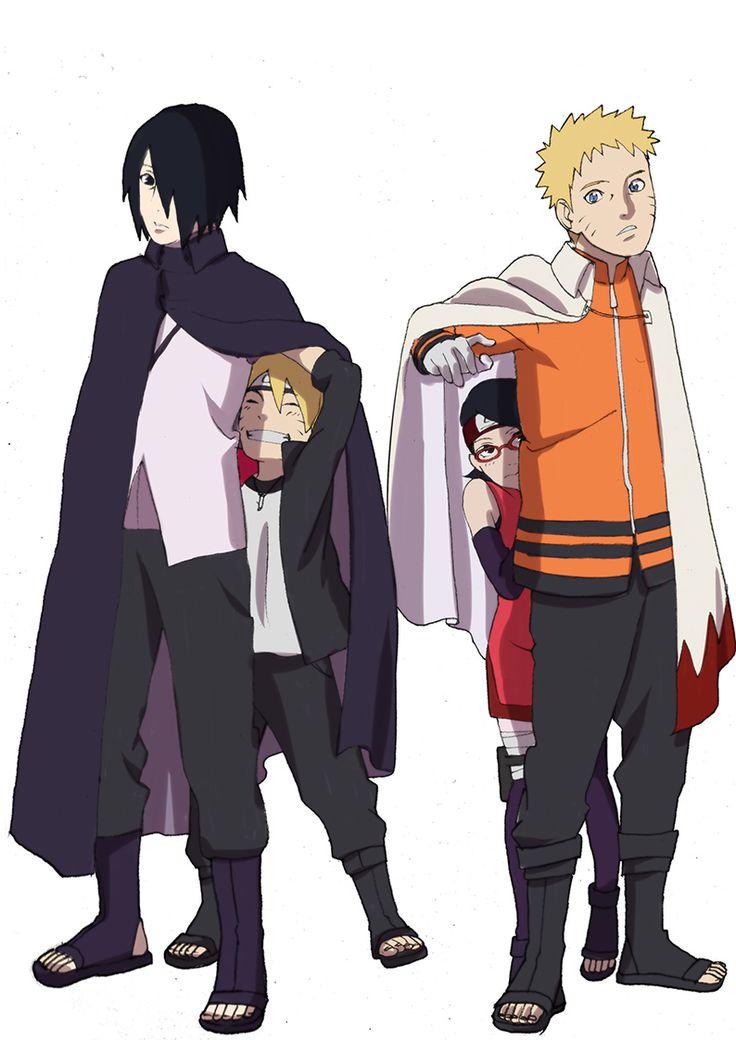 Naruto Sasuke Boruto Sarada Naruto / Boruto Pinterest