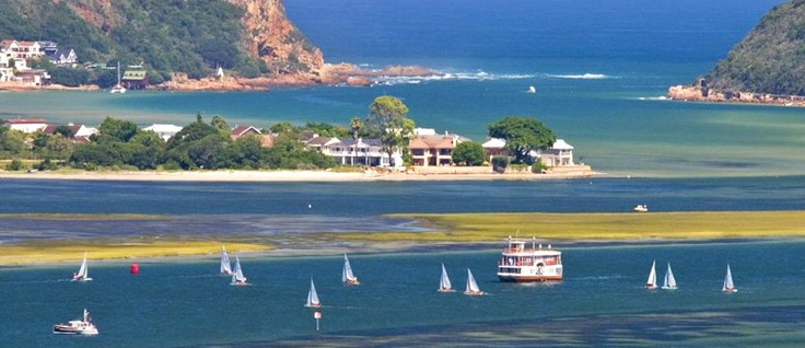 The stunningly beautiful town of Knysna on the Garden Route in South Africa