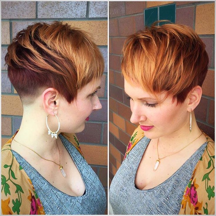 Red Blonde Pixie Fade Haircut Edgy Short Hair Edgy Short