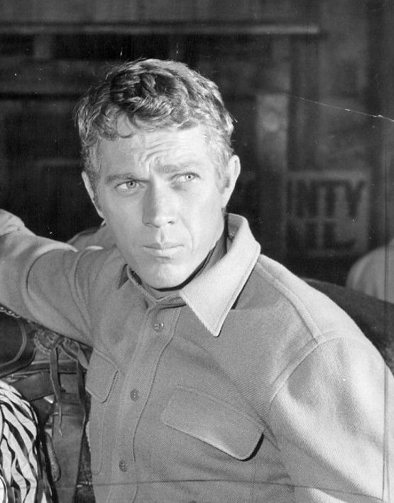 Steve McQueen on the set of Wanted: Dead or Alive, 1959.