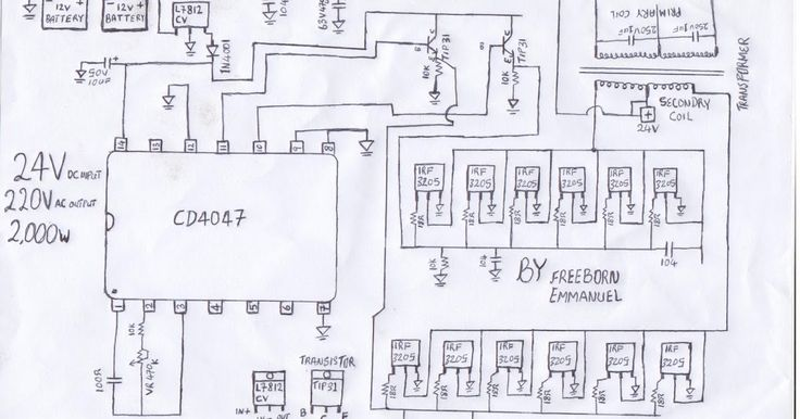 welcome this is a simple 24v dc to ac inverter circuit diagram by freeborn emm