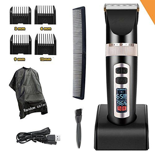 Professional Electric Hair Clippers For Men, Best Quiet Cordless For Boy & Kids, Personal Trimmers With Hair Cutting Cape Gift Set, Household USB LED Display Rechargeable Haircut Kit Guards #Professional #Electric #Hair #Clippers #Men, #Best #Quiet #Cordless #Kids, #Personal #Trimmers #With #Cutting #Cape #Gift #Set, #Household #Display #Rechargeable #Haircut #Guards