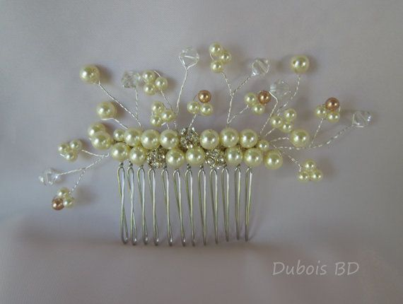 online shop fashion Bridal hair pearl comb Swardovski pearls by DuboisBridalDesigns