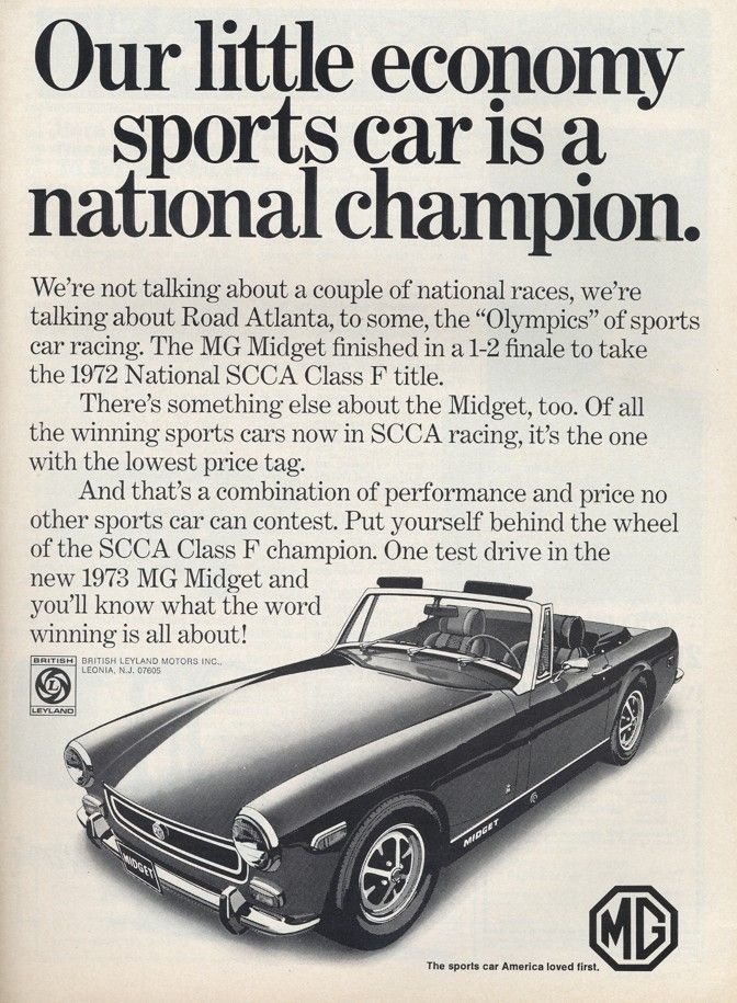 29 best mg midget images on pinterest br car classic trucks and 1973 mg midget ad sciox Gallery