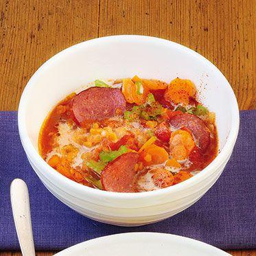 Rote-Linsen-Eintopf mit Kabanossi Rezept