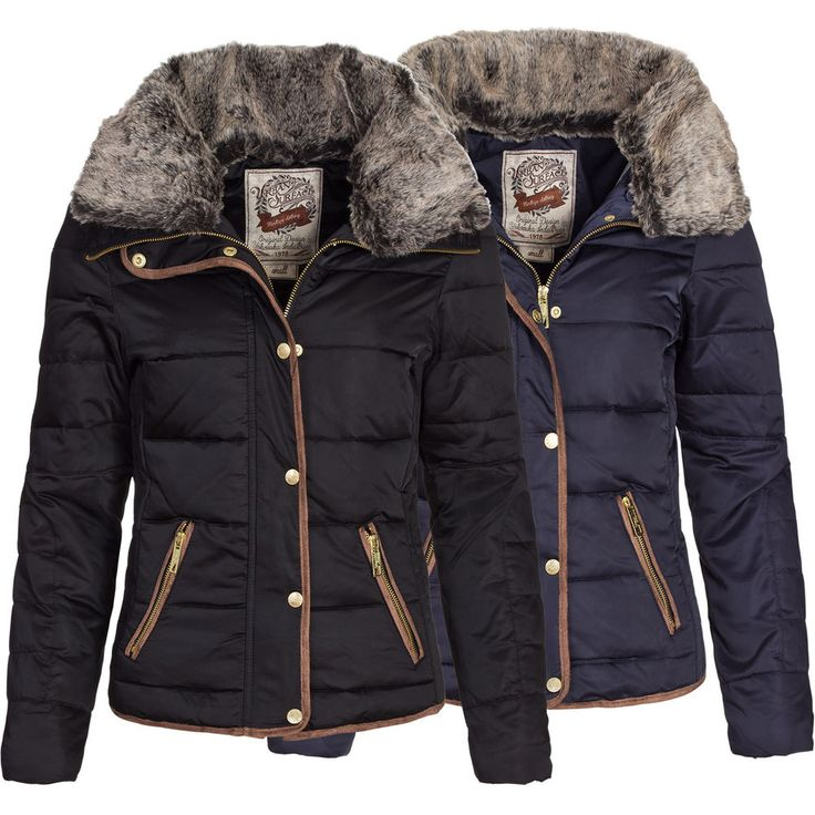 Urban Surface Damen Daunen Winterjacke Wintermantel Winter Daunen Jacke Mantel