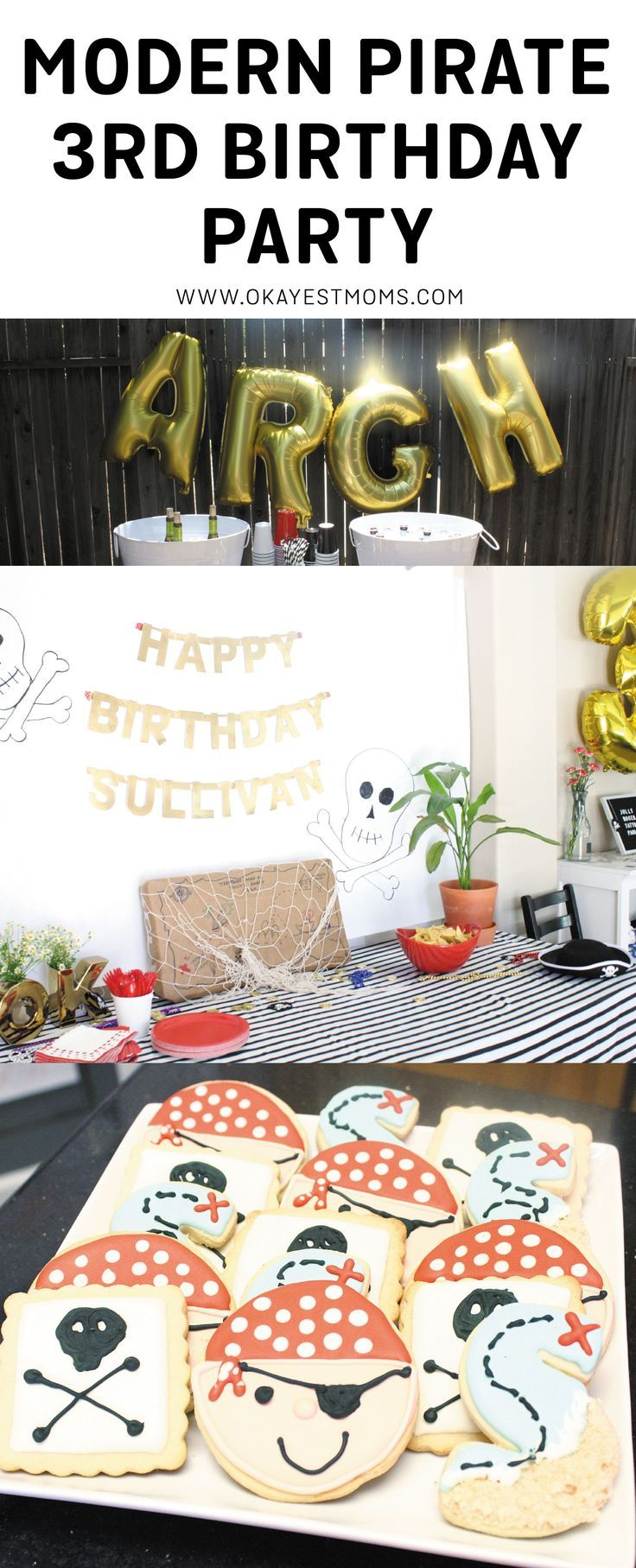 A Modern Pirate Third Birthday Party
