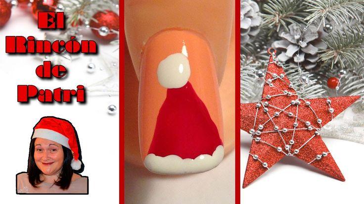 Diseño de uñas de gorro de Papa Noel de El rincón de Patri Nail Art. Sigue todos nuestros diseños de decoración de uñas en http://www.rincondepatri.com Father Christmas Hat Nail Art