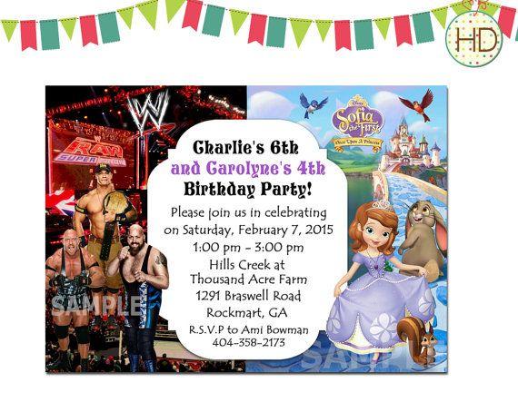 81 best joint birthday invitation, split invitations, twin, Birthday invitations