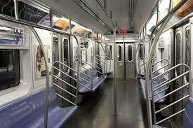 Inside New York train