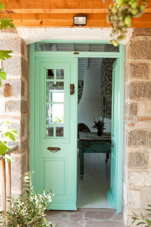 Charming House With Fantastic Colors On Lesvos, Greece 24