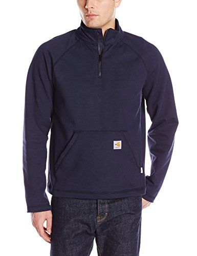 Carhartt Men's Flame Resistant Force Rugged Flex Quarter Zip Fleece:   Flame resistant and sweat-wicking.