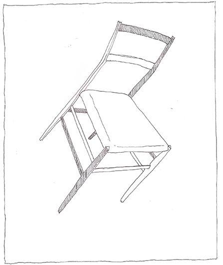 Gio Ponti, Superleggera, 1957 | drawn by Riccardo Salvi