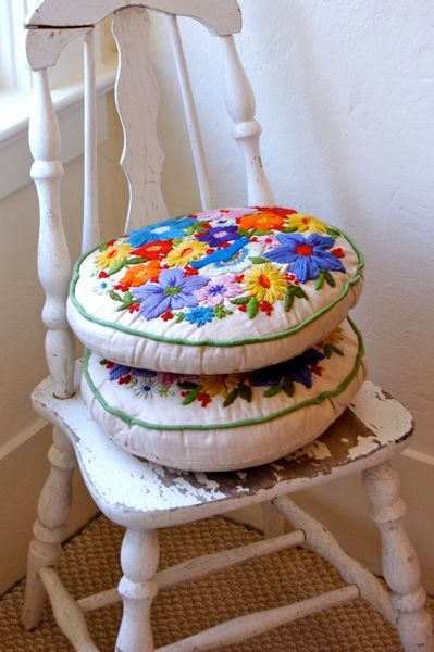 Vintage Embroidered Pillows