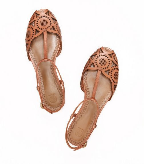Tory Burch Alexa flat sandal... New additions! Happy birthday month to me!