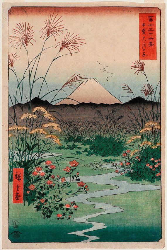 "Amazing artwork from hiroshige: ""otsuki plain in kai province"""
